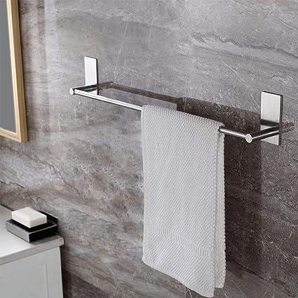 ruicer porte serviettes salle de bain sans percage 40cm barres inox
