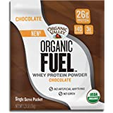 Organic Valley Fuel Whey Protein Powder, Chocolate, 1.23 oz Single Serve Packets, Pack of 12