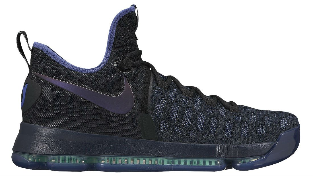 Nike Zoom KD 9 Men's Basketball Shoes (10, Obsidian/Dk Purple Dust-Black) by NIKE