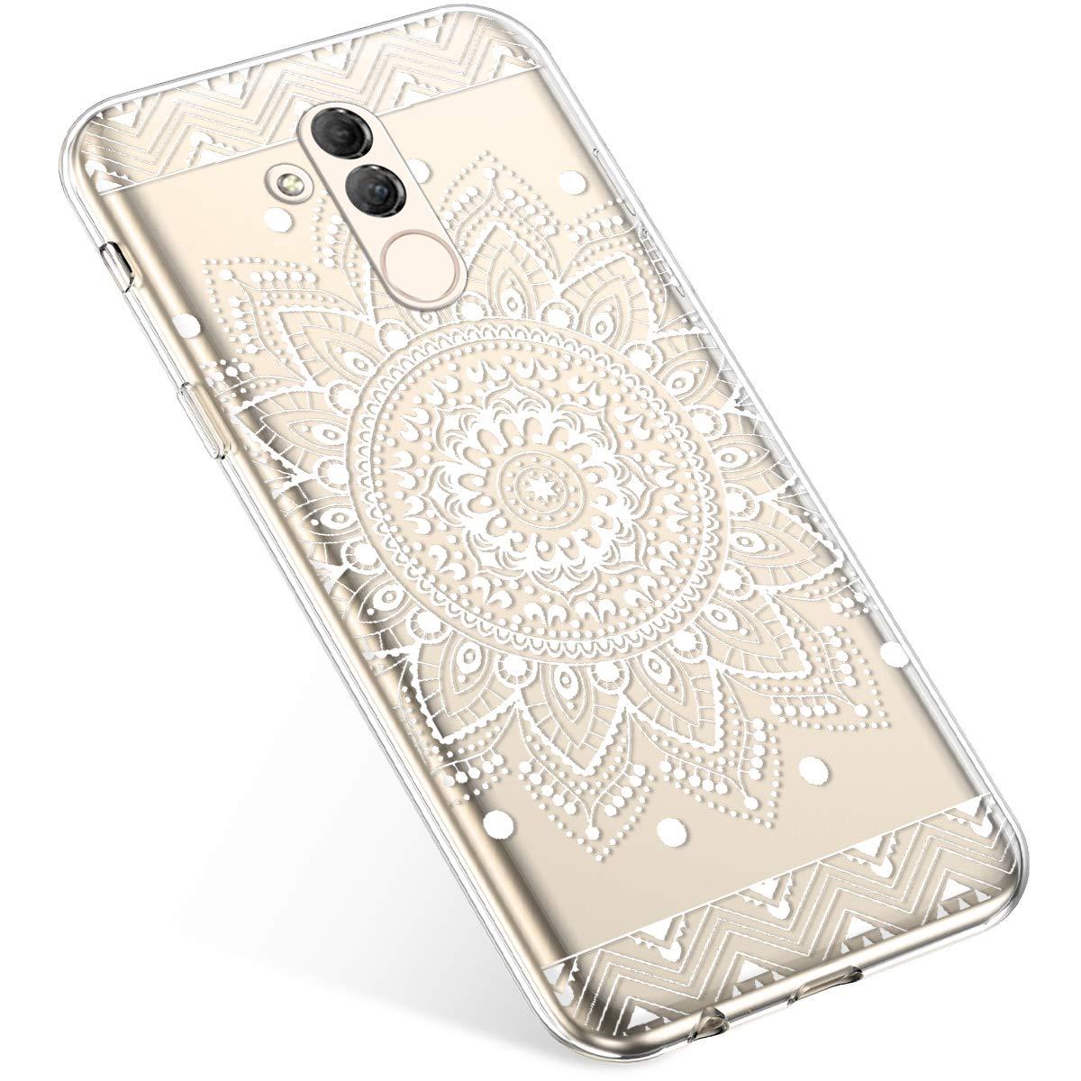 Funda Compatible con Huawei Mate 20 Lite Carcasa,Bling Glitter Funda Transparente Silicona,Moda Pintado Patr/ón Colorido Cubierta Suave Anti-Ara/ñazos Ultra Delgado TPU Case.Panda