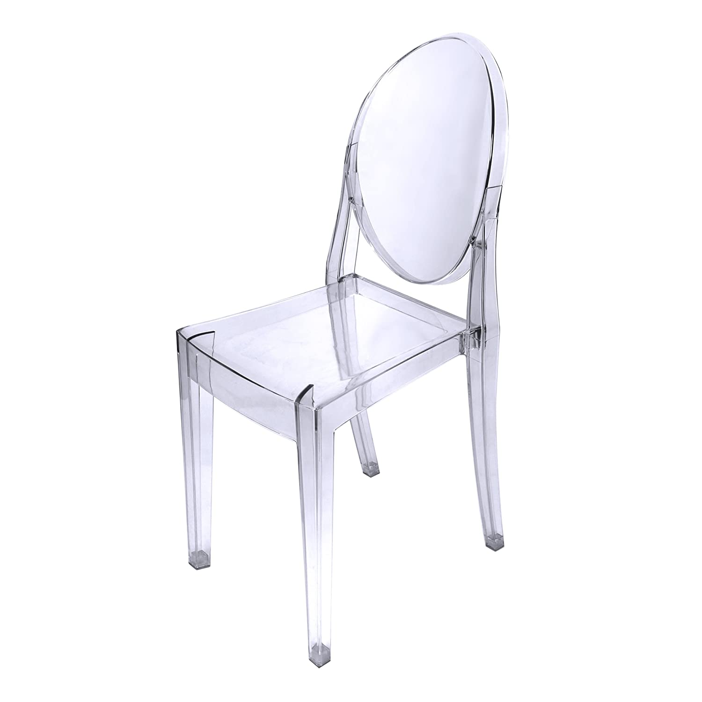 Chaise Transparente Polycarbonate Margaret lot de 3 chaises