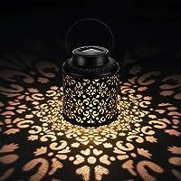 OOWOLF Linterna Solar Exterior Lámpara de Jardín, Iluminación Decorativa Solar LED IP44 Impermeable, Farol Solar…