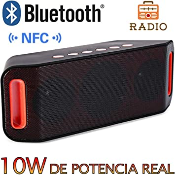 Altavoz Bluetooth 10W,Unicview S-204 Color Negro Estéreo HD ...