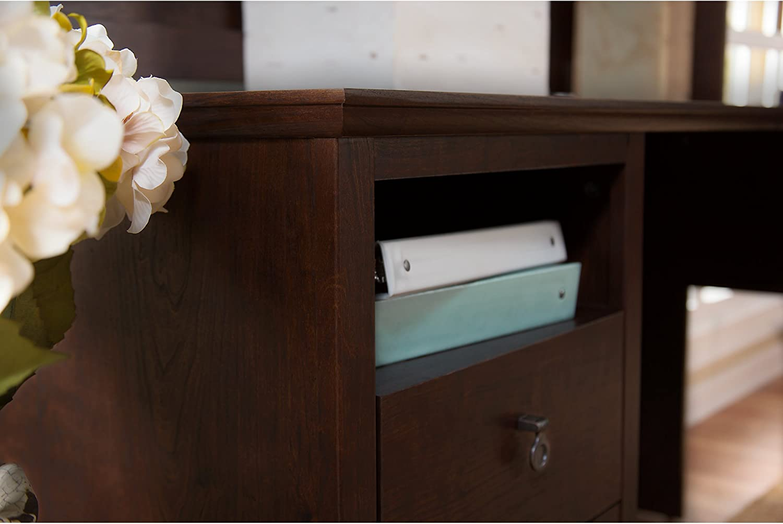 Bush Furniture Buena Vista L Shaped Desk with Lateral File Cabinet in Serene Cherry