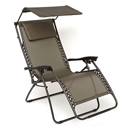 amazon com brylanehome zero gravity chair with pillow and canopy