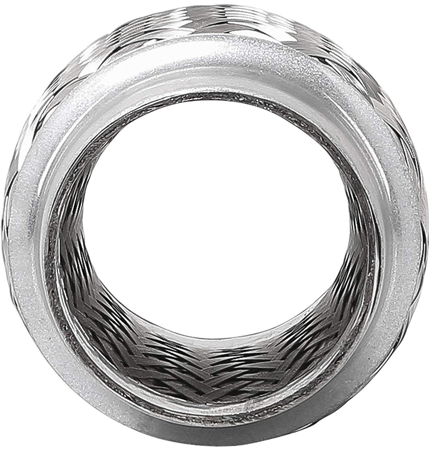 TOTALFLOW TF-76100 Stainless Steel Double Braided Exhaust Flex Pipe-3 ID x 4 OAL-Without Extensions