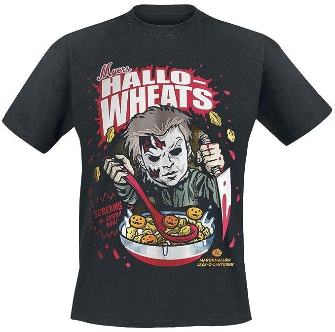 Halloween Hallo-Wheats Cereal Camiseta Negro M