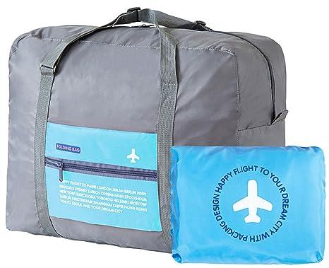 Amazon.com | Travel Bag DH Waterproof Foldable Blue 32L Large ...