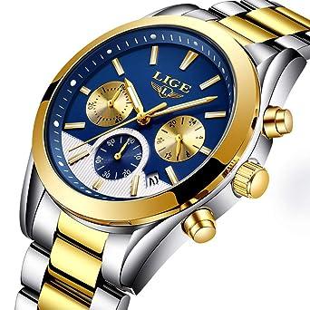 Herren Uhren Quartz 30 M Wasserdichtes, Lässige Chronograph Uhren, Business Uhren Kalender, Stoppuhr