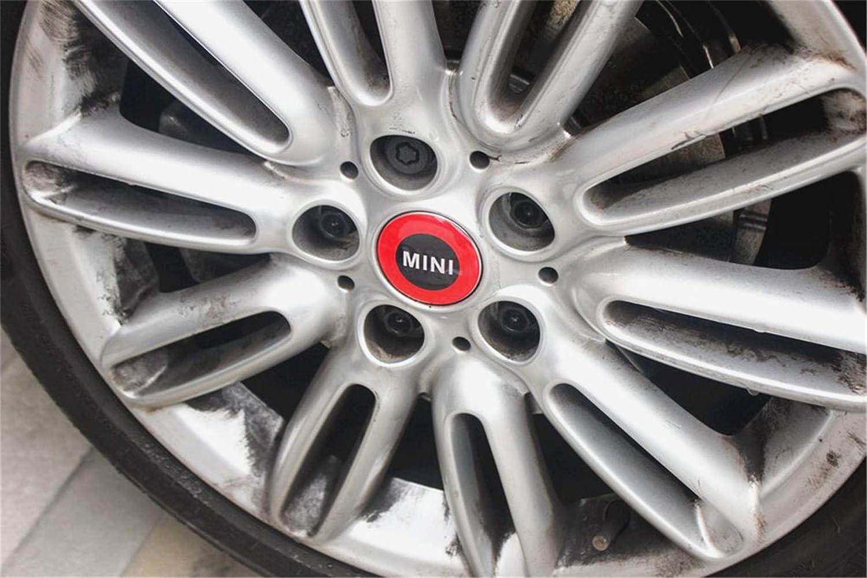 LVBAO 4/x 56/mm de Roue Rim Centre Cover Cap Badge denjoliveurs Bordure Autocollant pour Mini Cooper R S/érie R60/R55/R56/R57/R58/R59/Clubman Countryman Glossy Hatchback