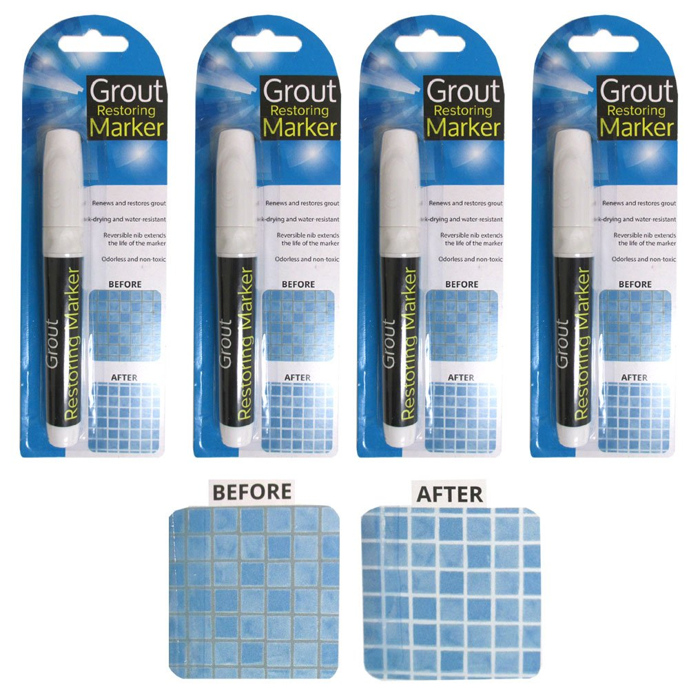 Amazon.com: 4 Tile Grout Marker Repair Marker Wall Pen White ...