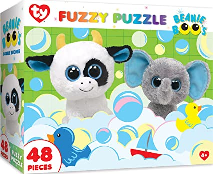 9cf483b795f Image Unavailable. Image not available for. Color  MasterPieces Ty Beanie  Boo Fuzzy of Bubble Buddies - 48 Piece Kids Puzzle