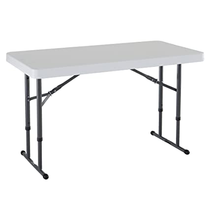 Image Unavailable Image Not Available For Color Lifetime 80160 Commercial Height Adjustable Folding Utility Table 4 Feet