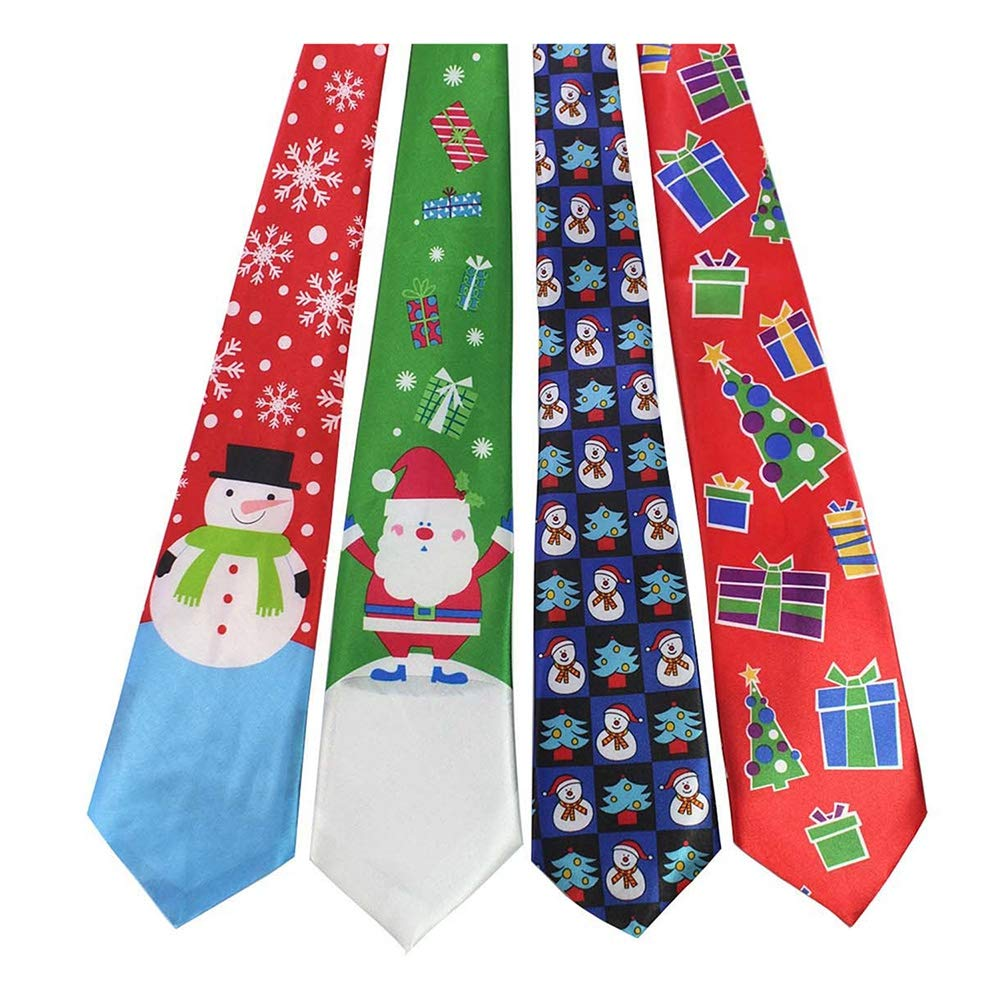 95f2f38a8755b Ruibuy Funny Ugly Christmas Ties Neckties for Men Skinny Tie Jacquard Woven  Satin Polyester Funny Necktie, Red/Green/Blue L:4.6ft: Amazon.co.uk:  Kitchen & ...