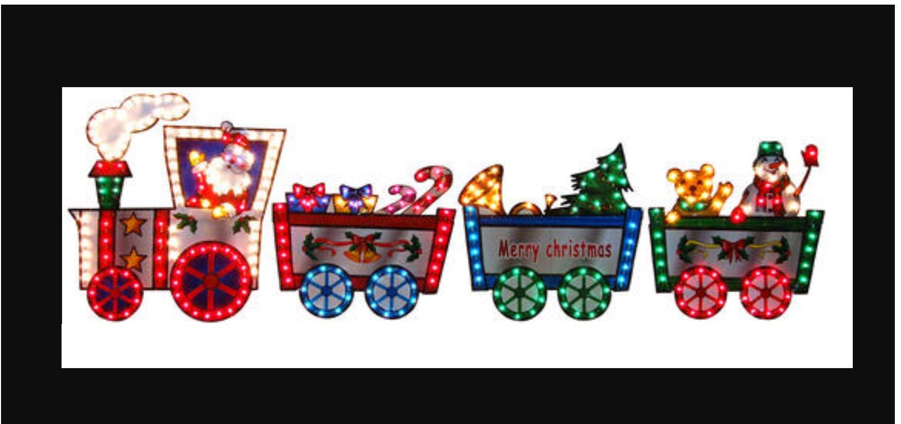 36'' Lighted Christmas Train (