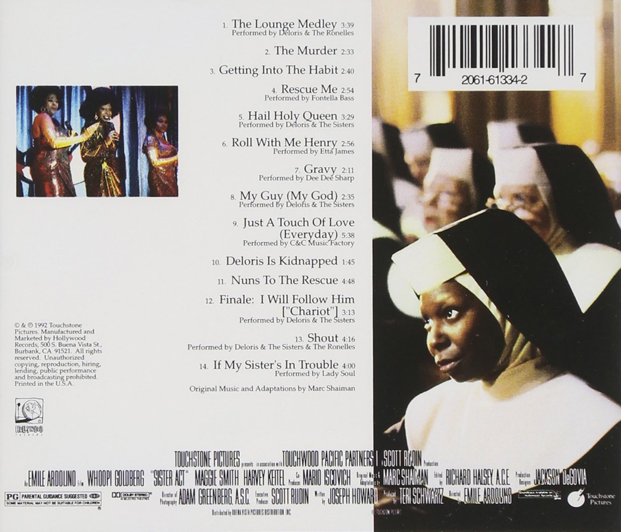 Sister Act: Music From The Original Motion Picture Soundtrack by Hollywood (Image #1)