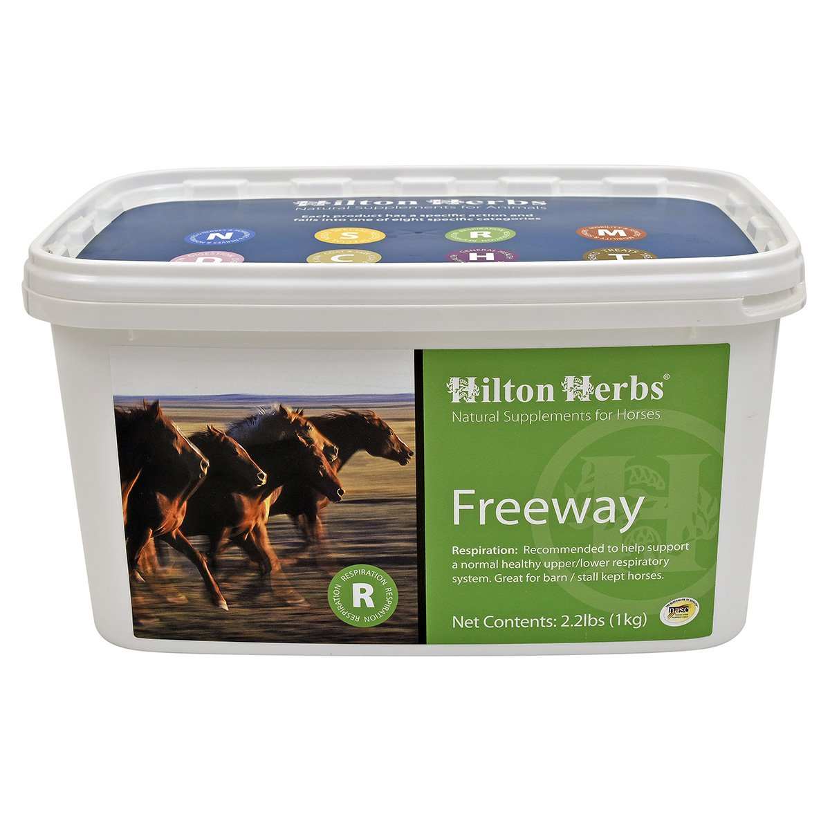 Hilton Herbs Freeway Herbal Supplement for Healthy Respiratory System for Horses, 1kg Tub by Hilton Herbs