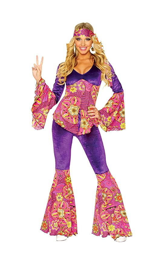 70s Costumes: Disco Costumes, Hippie Outfits Costume Culture Womens Purple Power Costume $54.00 AT vintagedancer.com