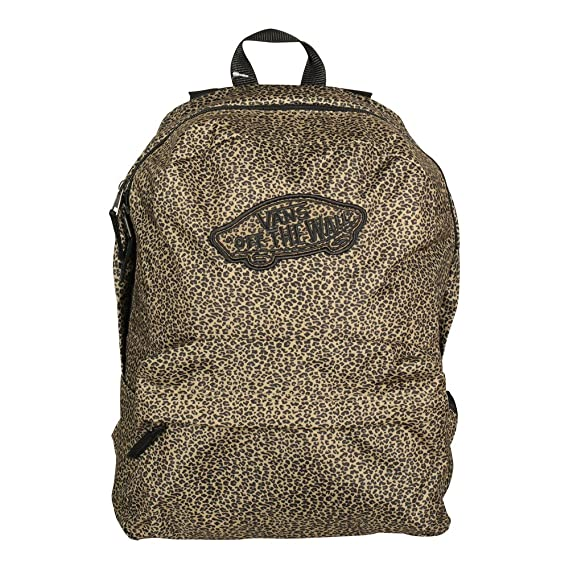 6b56a435686 Vans Realm Backpack Leopard  Amazon.co.uk  Clothing