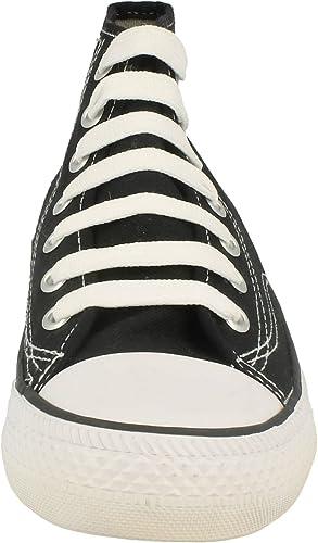 Womens/Ladies Canvas Baseball Boots