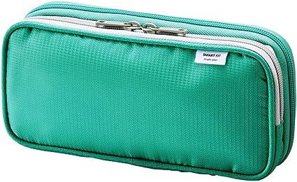 Lihit Lab A-7661-7 - Estuche doble , 220mm × 45mm × 105mm , color Verde: Amazon.es: Oficina y papelería