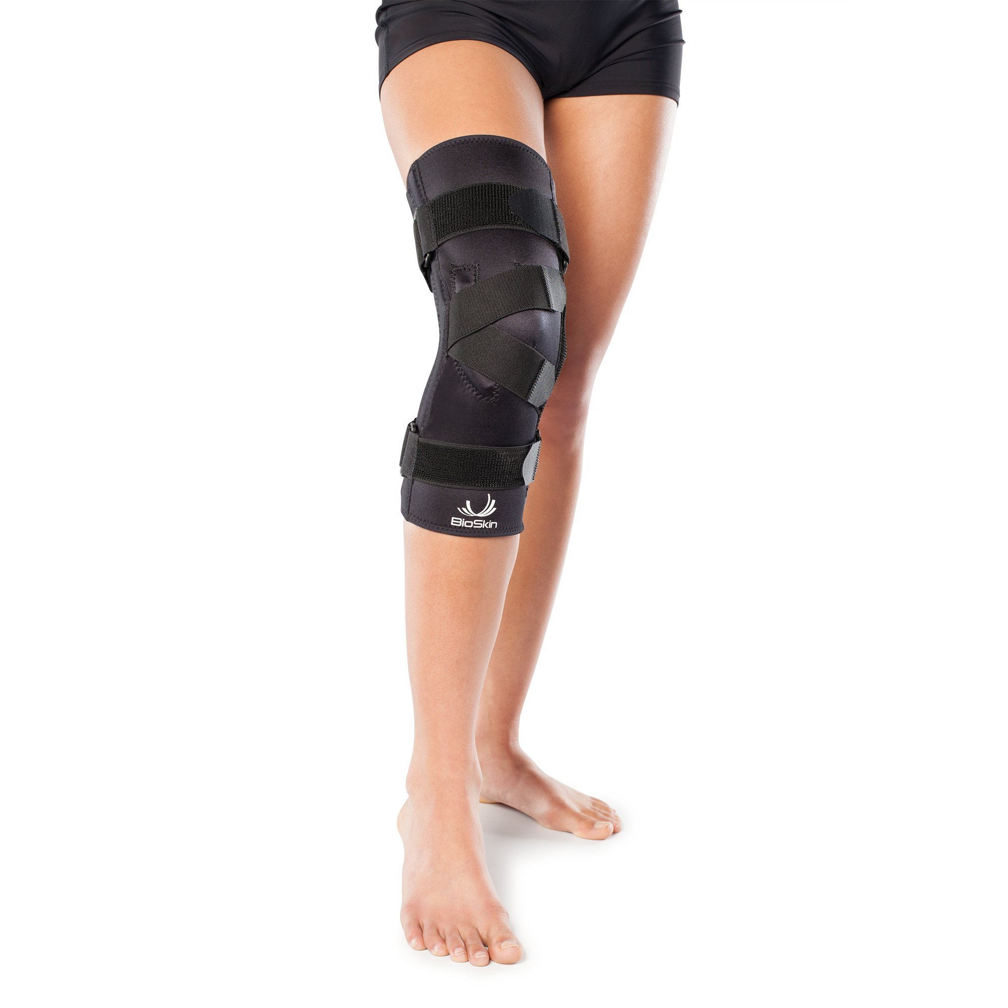 Premium J Knee Brace for Patella Support & Patella Tracking, Patellofemoral Pain and Dislocation- by BioSkin (L Left)