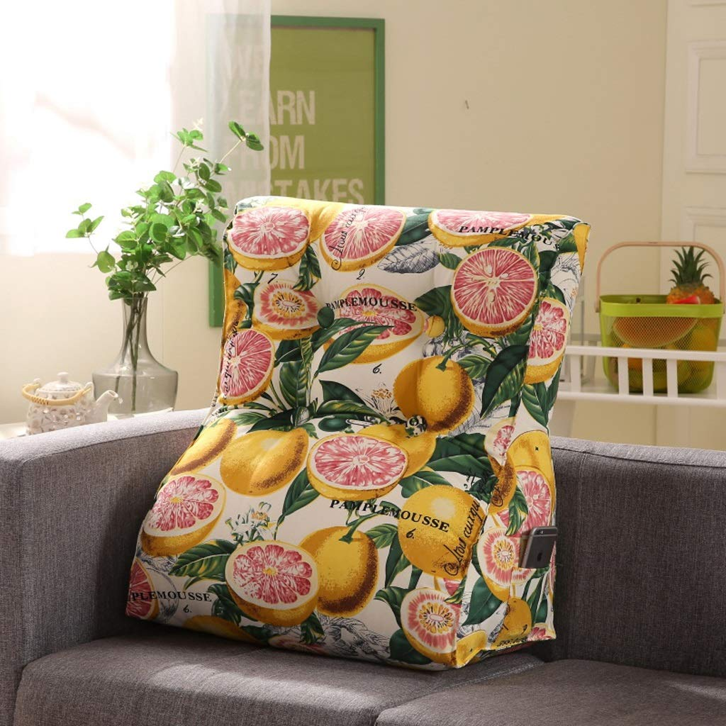 LILISHANGPU Lil Multi-Function Sofa Triangle Cushion, Lathe Head Large Back Bed Cushion/Cotton Canvas Hold Pillow/Removable and Washable (Color : 9, Size : 4555cm)
