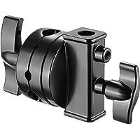 Neewer Cabeza Giratoria Titular Adaptador Montaje Multi Functional de 2,5 Pulgadas para Soporte Luz, Brazo Extensión de Brazo y otro Equipo Fotográfico con Montura 1/2, 1/4, 3/8, 5/8 Pulgada(Negro)
