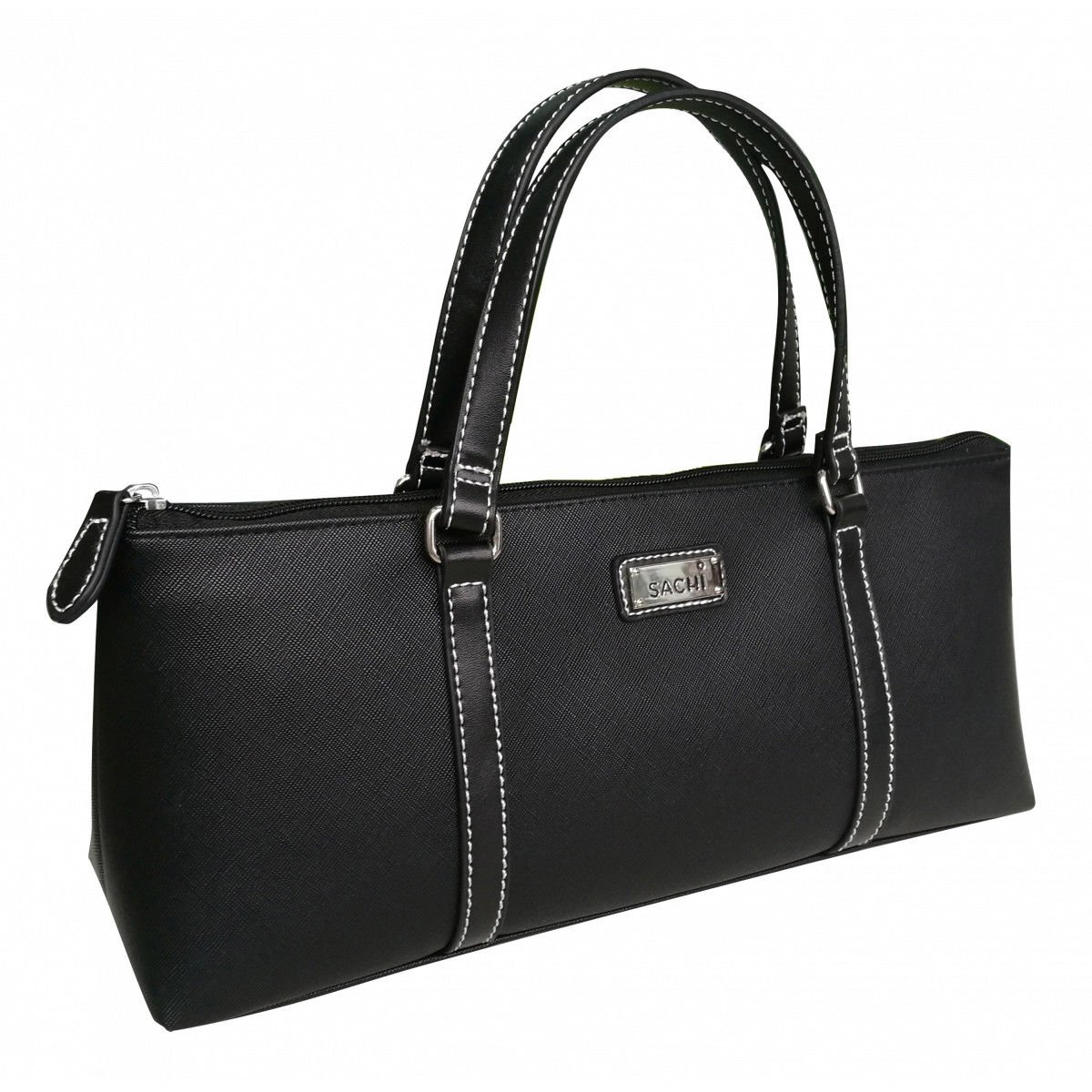 Sachi Insulated Wine Purse Cooler Tote Bag - Black by Sachi Insulated Wine Purse Cooler Tote Bag - Black (Image #1)