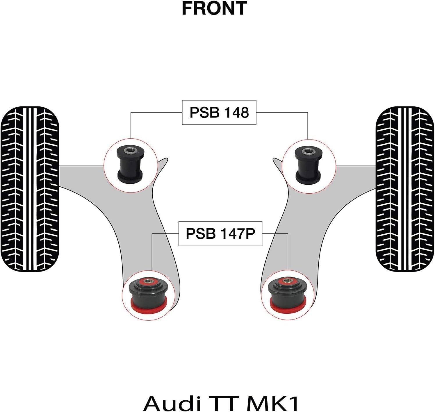 Bushing Kit PSB148//147P Complete Front Wishbone Pressed Arm PSB Polyurethane Bush TT MK1 98-06 30mm OD
