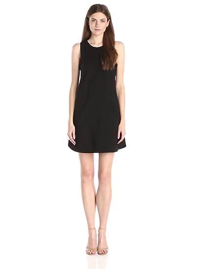 Amazon Lark Ro Womens Sleeveless Ponte Shift Dress Black