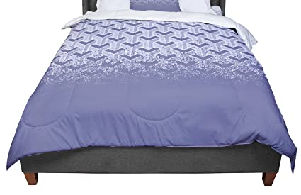 88 X 88 KESS InHouse CarolLynn Tice Make it Last Blue Navy Queen Comforter