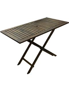 Delamaison Table de Jardin rectangulaire 120x70cm Pliante en Acacia ...