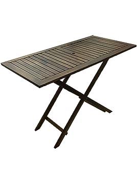 PJ Table à Rabat Portable Amovibles en Bois, foncé, avec Trou pour ...