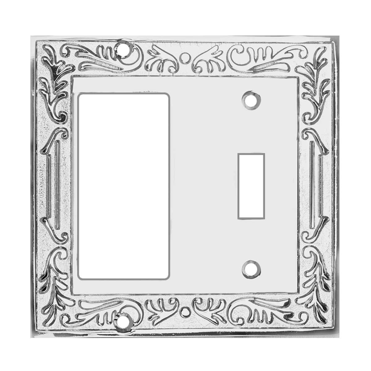 Victorian Switch Plate GFI Toggle Chrome Brass | Renovator's Supply