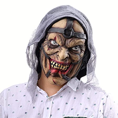 VYNOPA Máscara de Halloween máscara de látex Cabeza Horrible ...