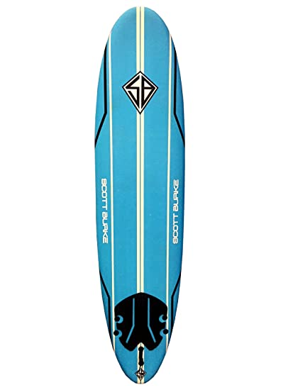 Amazon Com Scott Burke 7 6 Surfboard Package White Blue