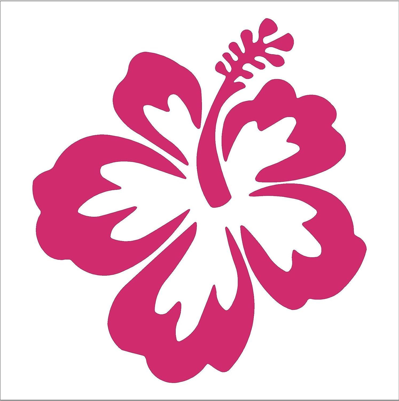 Hibiscus Flower 4 Hot Pink Vinyl Decal Window Sticker For Laptop