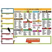 JP-JORPAY Pizarra Magnética Nevera - Ideal para la Lista de la Compra - Notas Semanales -Pizarra Nevera - Cesta de la…