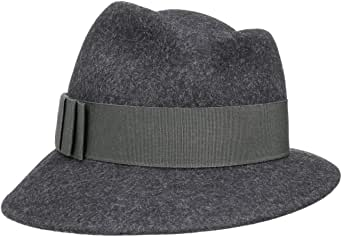 Lierys Sombrero de Mujer Asym Mélange - Made in Italy Fieltro con Banda Grosgrain Verano/Invierno