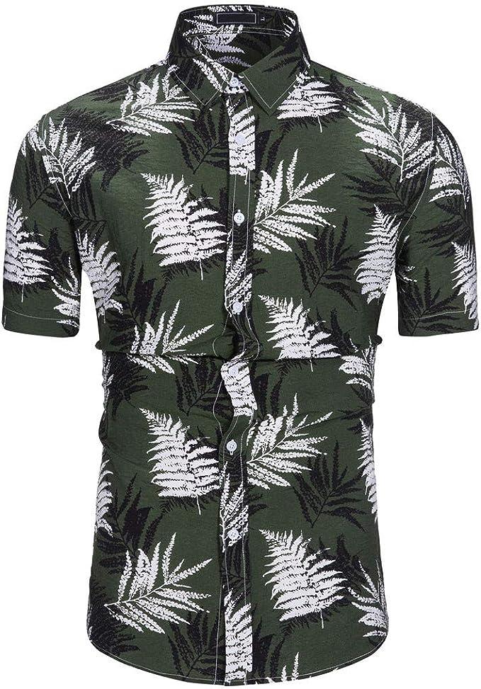 Cocoty-store 2019 Camisa Hawaiana de Manga Corta - para Hombre ...