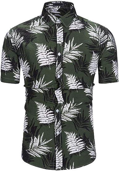 ZODOF Camisa Hawaiana Camisetas Hombre Manga Corta Camisas de Hombre Verano Camisas Hombre Manga Corta Camisa Blusa Superior: Amazon.es: Ropa y accesorios