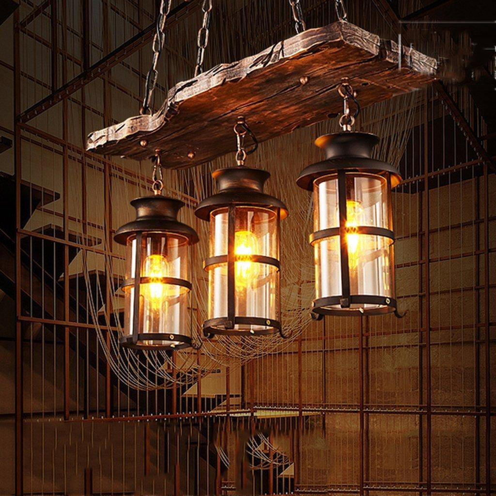 TANG SHI ®E27 Pendelleuchte Vintage Hängeleuchte Retro Edison Loft Kronleuchter Höhenverstellbar Industrielle Deckenleuchte Pendellampe für Wohnzimmer Esszimmer Restaurant