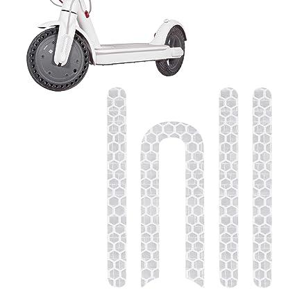 Atuka Etiqueta Reflectante Etiqueta Delantera y Trasera Rueda Etiqueta de Goma para Xiaomi Mijia M365 Etiqueta Scooter Piezas de Repuesto