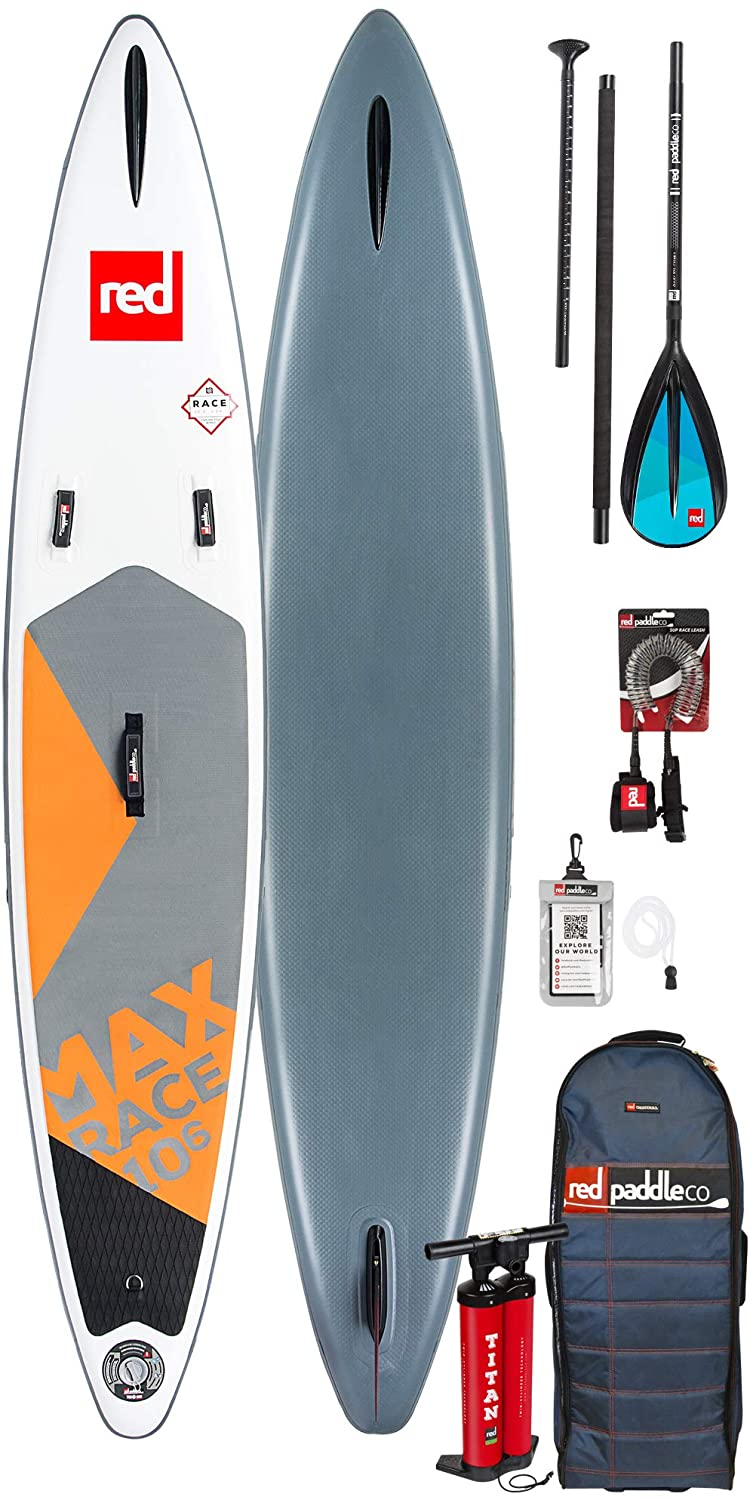 Red Paddle Co MAX Race 10;6 x 26 Junta de Paleta Hinchable Sup + ...