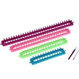 Readaeer Long Knitting Looms Set Craft Kit Tool with Hook and Needle
