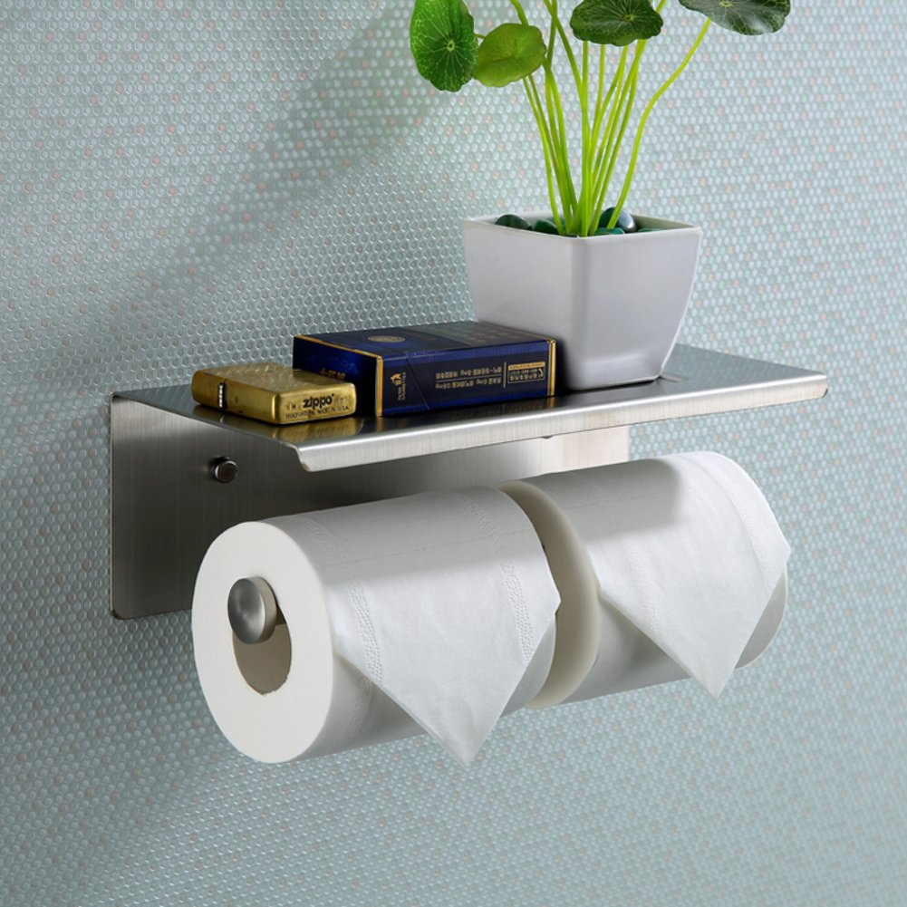 Amazon.com: Stainless Steel Toilet Paper Holder/Toilet Paper Holder ...