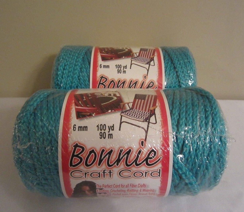 Bonnie Macrame Craft Cord 6mmx100yd-Turquoise
