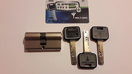 Mul T Lock Mt5 High Security Euro Cylinder Lock 3 Keys And Id