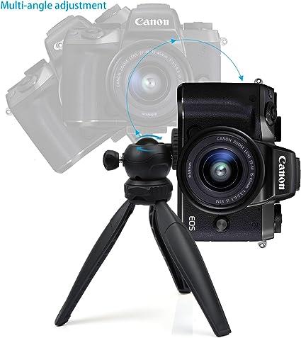 Coolway® Premium Mini trípode trípode de viaje, mesa escritorio trípode para GoPro, smartphones, cámaras compactas y cámaras réflex digitales: Amazon.es: Electrónica
